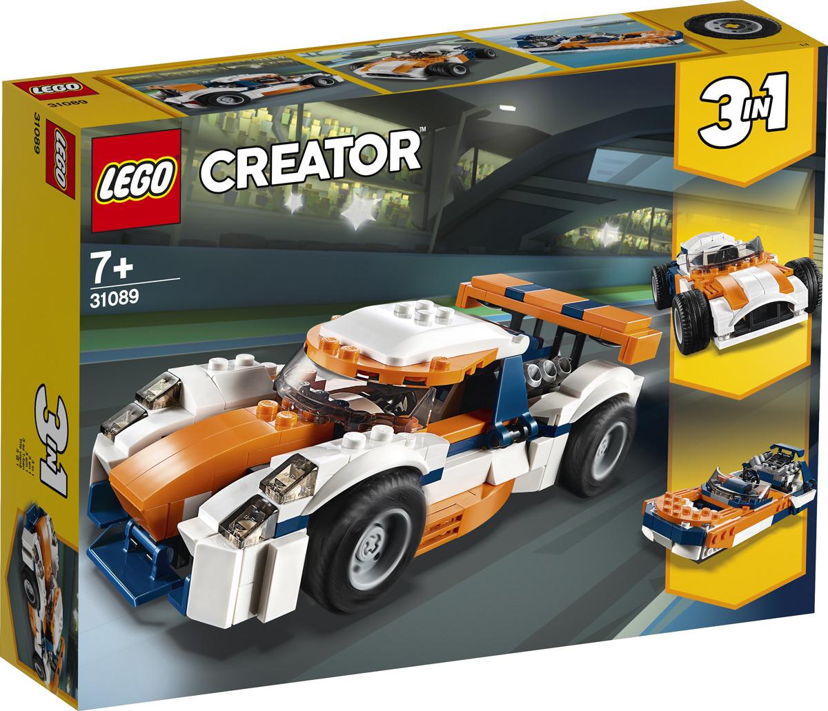 LEGO Creator 31089 Оранжевый гоночный автомобиль Конструктор lego creator 31040 гонки в пустыне