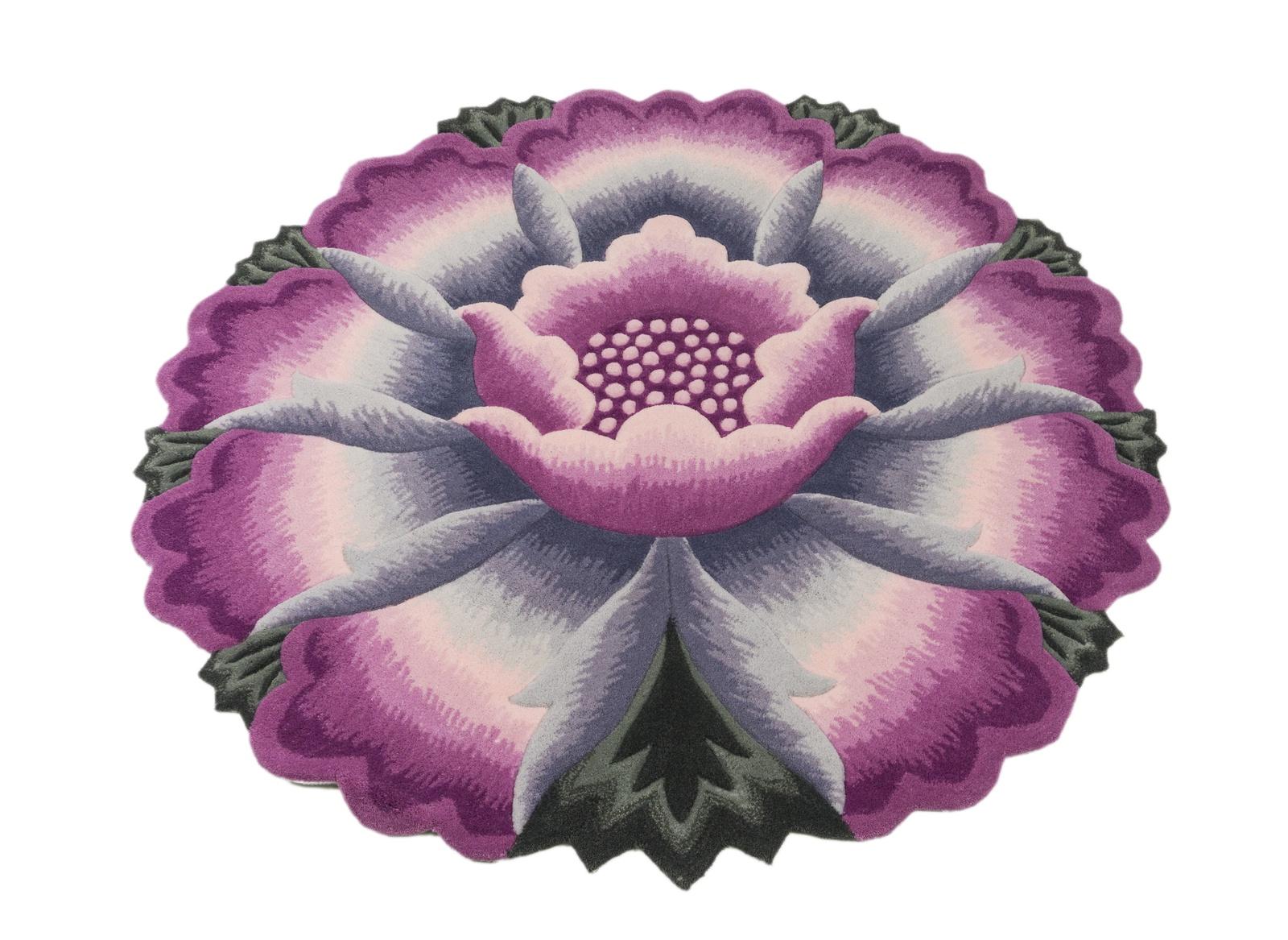 Ковер MADONNA 1,2х1,2м, круг, фиолетовый