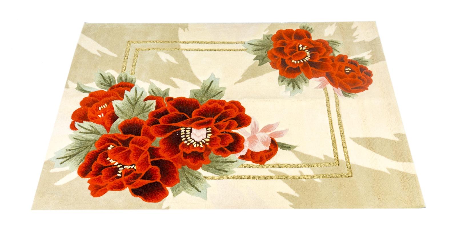Ковер MADONNA 0,8х1,5м, прямоугольник, бежевый, красный