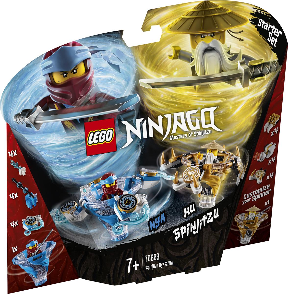LEGO NINJAGO 70663 Ния и Ву мастера Кружитцу Конструктор lego ninjago битва гармадона и мастера ву 70608