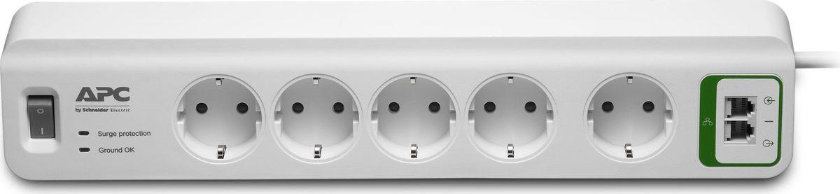 Сетевой фильтр APC PM5T-RS 5 розеток 1.83м, 283512, белый все цены