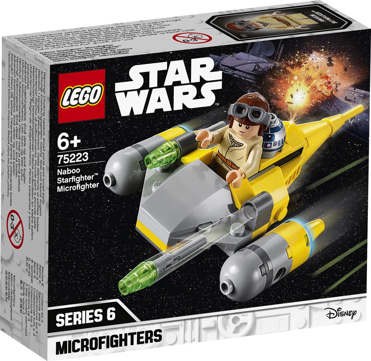 LEGO Star Wars 75223 Микрофайтеры: Истребитель с планеты Набу Конструктор lego lego star wars 75092 истребитель набу™ naboo starfighter™