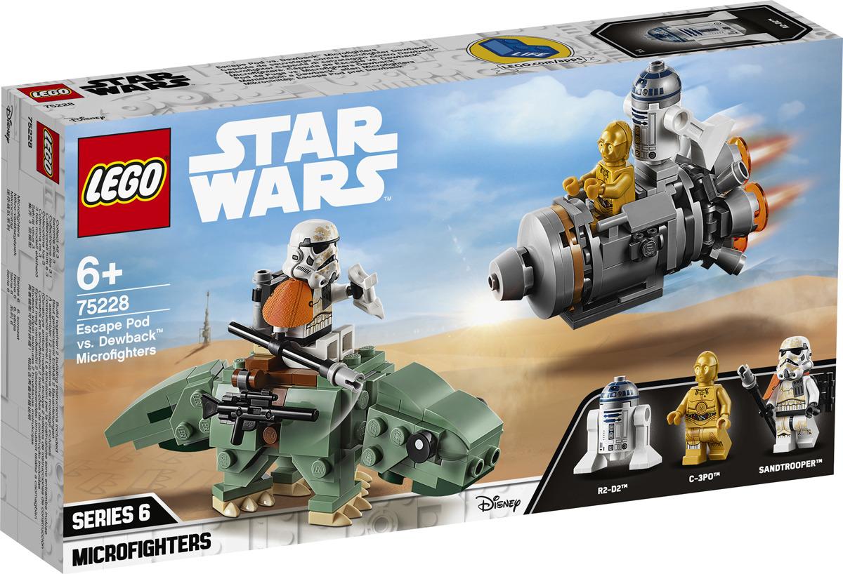 LEGO Star Wars 75228 Спасательная капсула Микрофайтеры: дьюбэк Конструктор