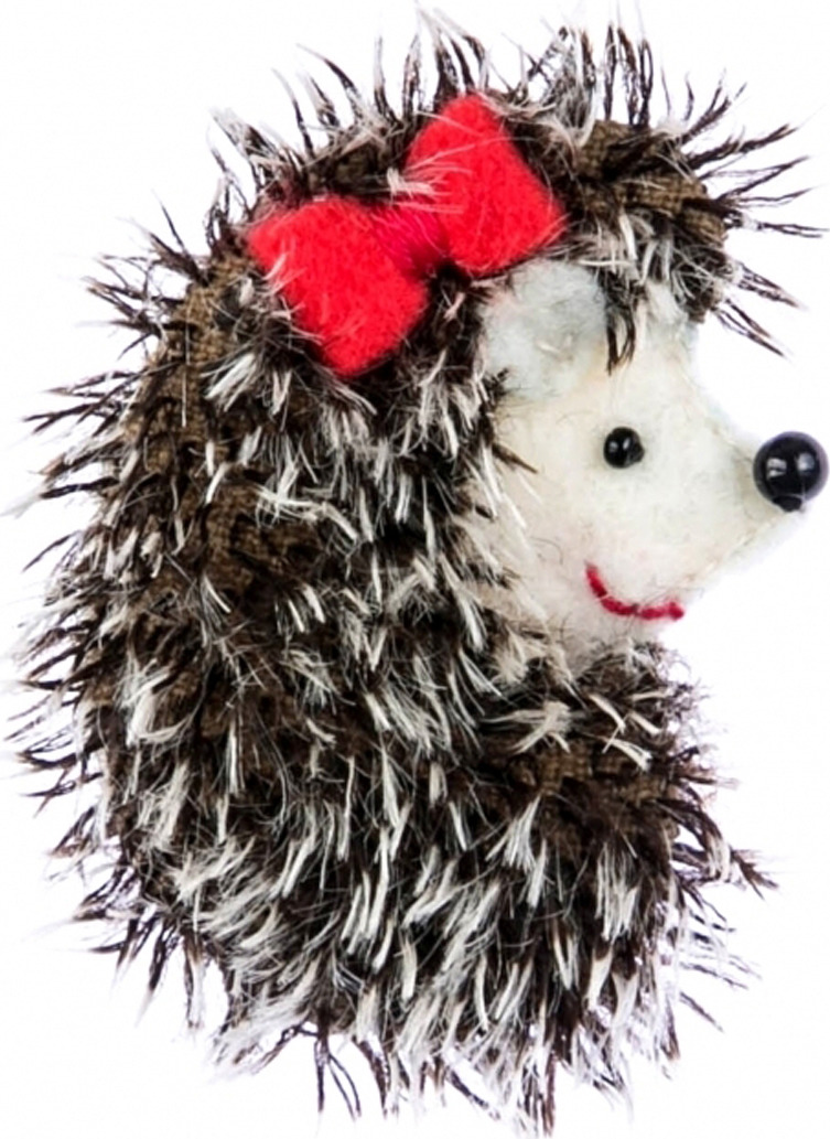 цена на Набор для изготовления игрушки Перловка Брошка ежик, 903101, 5,5 х 4 см