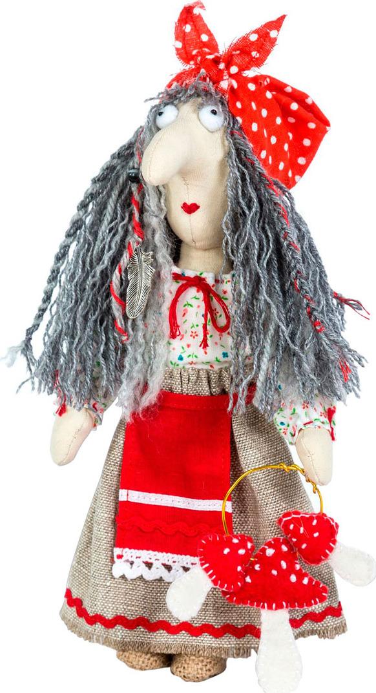 Набор для изготовления игрушки Перловка Баба Яга, 904698, высота 21 см набор для создания игрушки перловка слоненок фантик высота 19 см