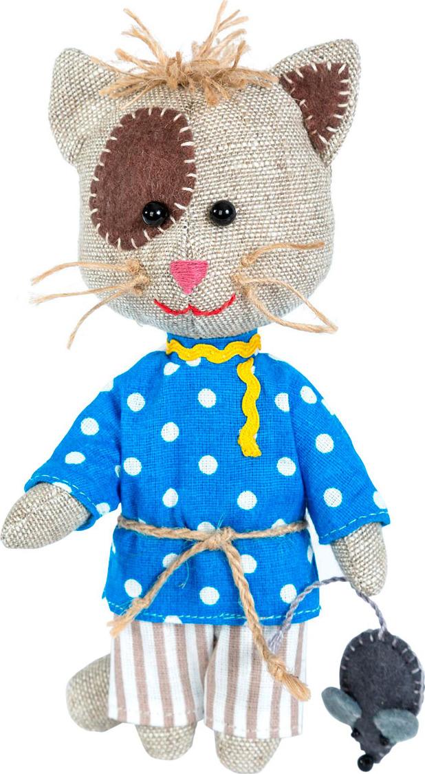 Набор для изготовления игрушки Перловка Домовитый кот Василий, 904699, высота 16,5 см набор для создания игрушки перловка слоненок фантик высота 19 см