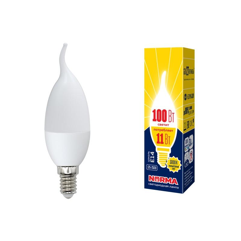 Лампочка Volpe LED-CW37-11W/WW/E14/FR/NR Форма свеча на ветру, матовая. Теплый белый свет (3000K), UL-00003817UL-00003817Диапазон рабочих температур, °С - +40 … -20; Индекс цветопередачи, Ra - 80; Класс энергопотребления - A+; Коэффициент мощности - ?0,7; Материал корпуса - термопластик; Мощность, Вт - 11; Напряжение, В - 175-250; Размер лампы (DxL), мм - 37x125; Свет - теплый белый; Световой поток, лм - 900; Светоотдача, Лм/Вт - ?80; Срок гарантии - 36 месяцев; Срок годности - не ограничен; Срок службы, ч - 25000; Тип стекла - матовая; Угол светового потока, ° - 240; Цветовая температура, К - 3000; Цоколь - E14; Частота, Гц - 50; Эквивалентная мощность лампы накаливания, Вт - 100