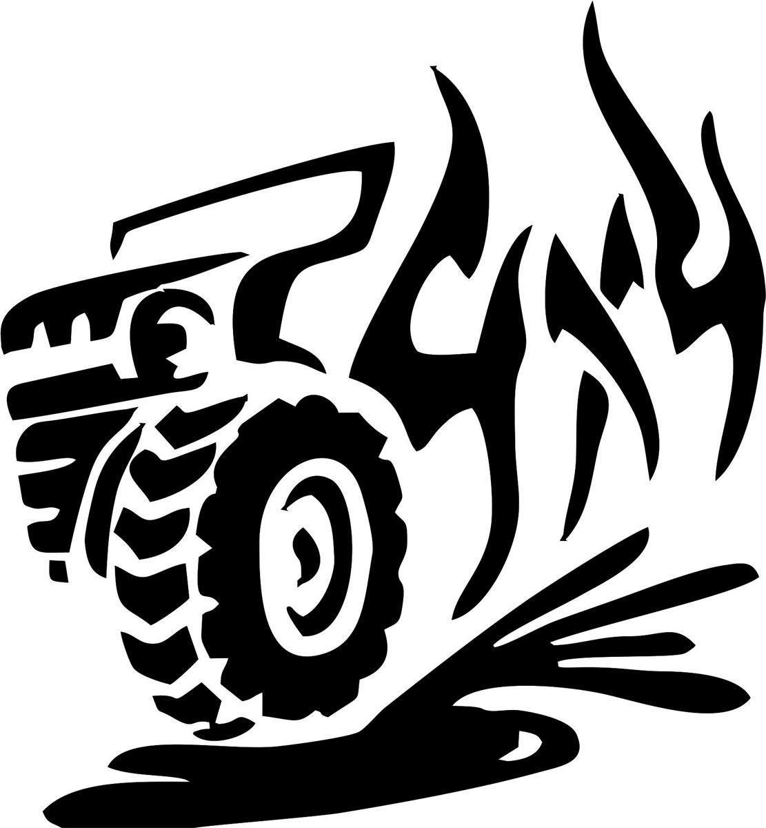"""Наклейка ОранжевыйСлоник виниловая """"4х4 джип"""" для авто или интерьера, Винил"""