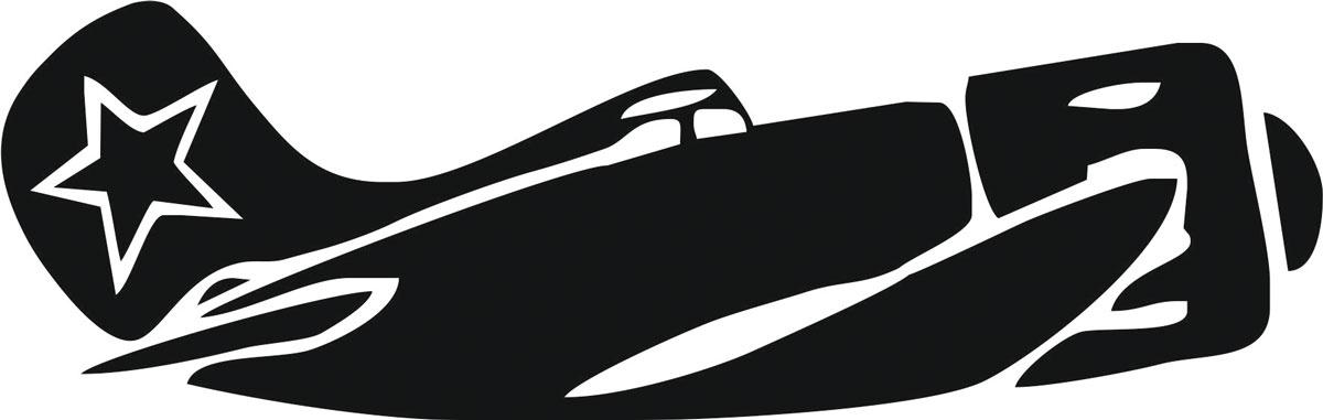 Наклейка ОранжевыйСлоник виниловая Самолет для авто или интерьера, Винил наклейка оранжевыйслоник виниловая водитель уаза для авто или интерьера винил