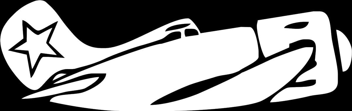 Фото - Наклейка ОранжевыйСлоник виниловая Самолет для авто или интерьера, Винил авто
