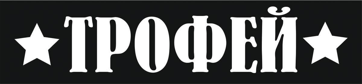 Фото - Наклейка ОранжевыйСлоник виниловая Трофей для авто или интерьера, Винил авто