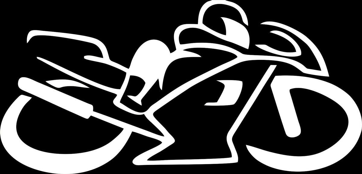 Фото - Наклейка ОранжевыйСлоник виниловая Мото1 для авто или интерьера, Винил авто