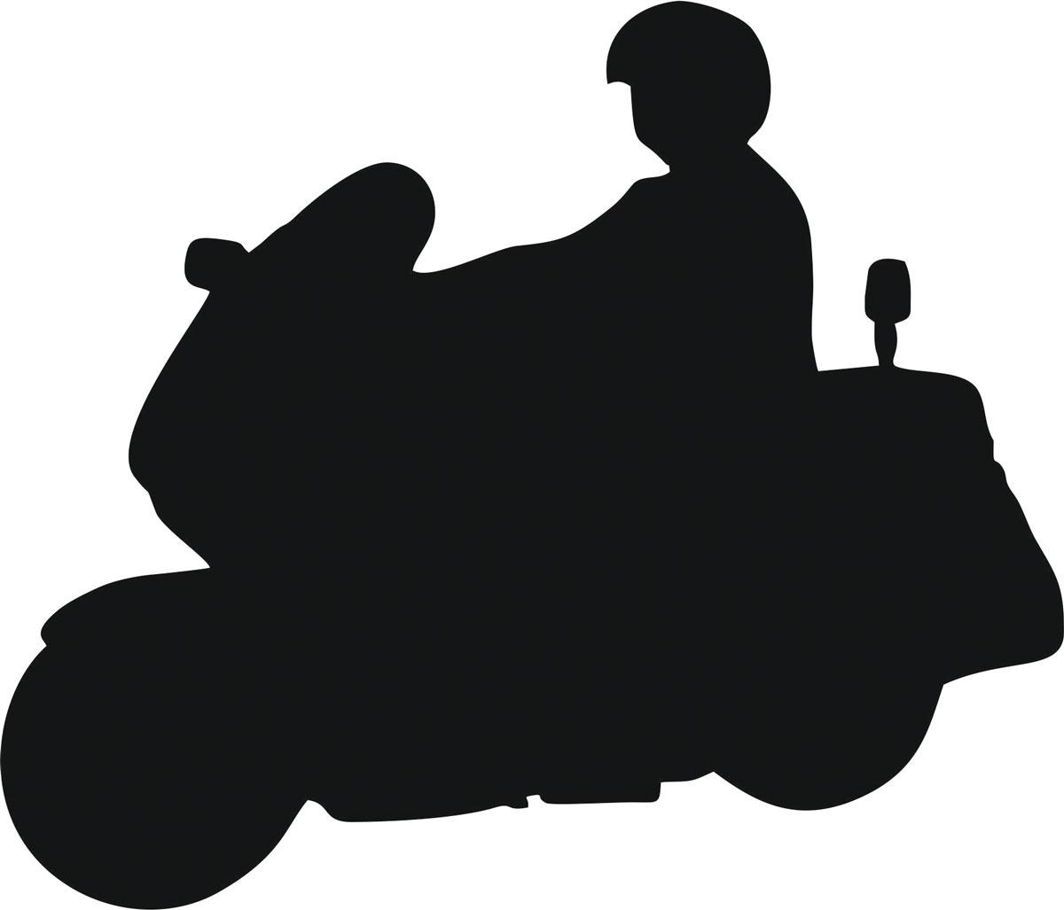 Фото - Наклейка ОранжевыйСлоник виниловая Мото12 для авто или интерьера, Винил авто
