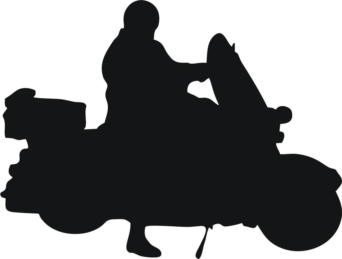 Фото - Наклейка ОранжевыйСлоник виниловая Мото17 для авто или интерьера, Винил авто