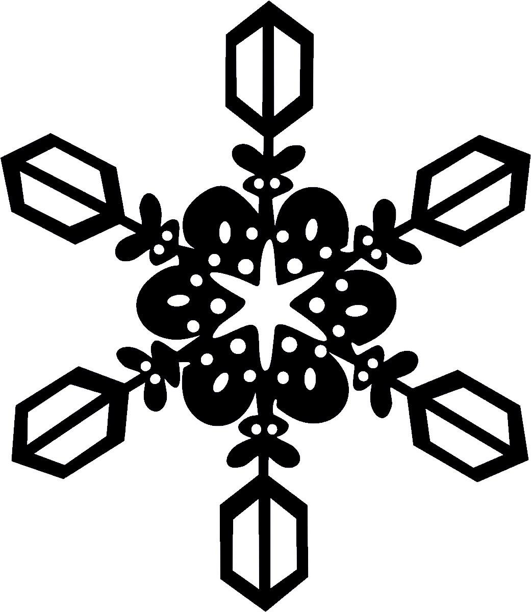 Фото - Наклейка ОранжевыйСлоник виниловая Снежинка4 для авто или интерьера, Винил авто