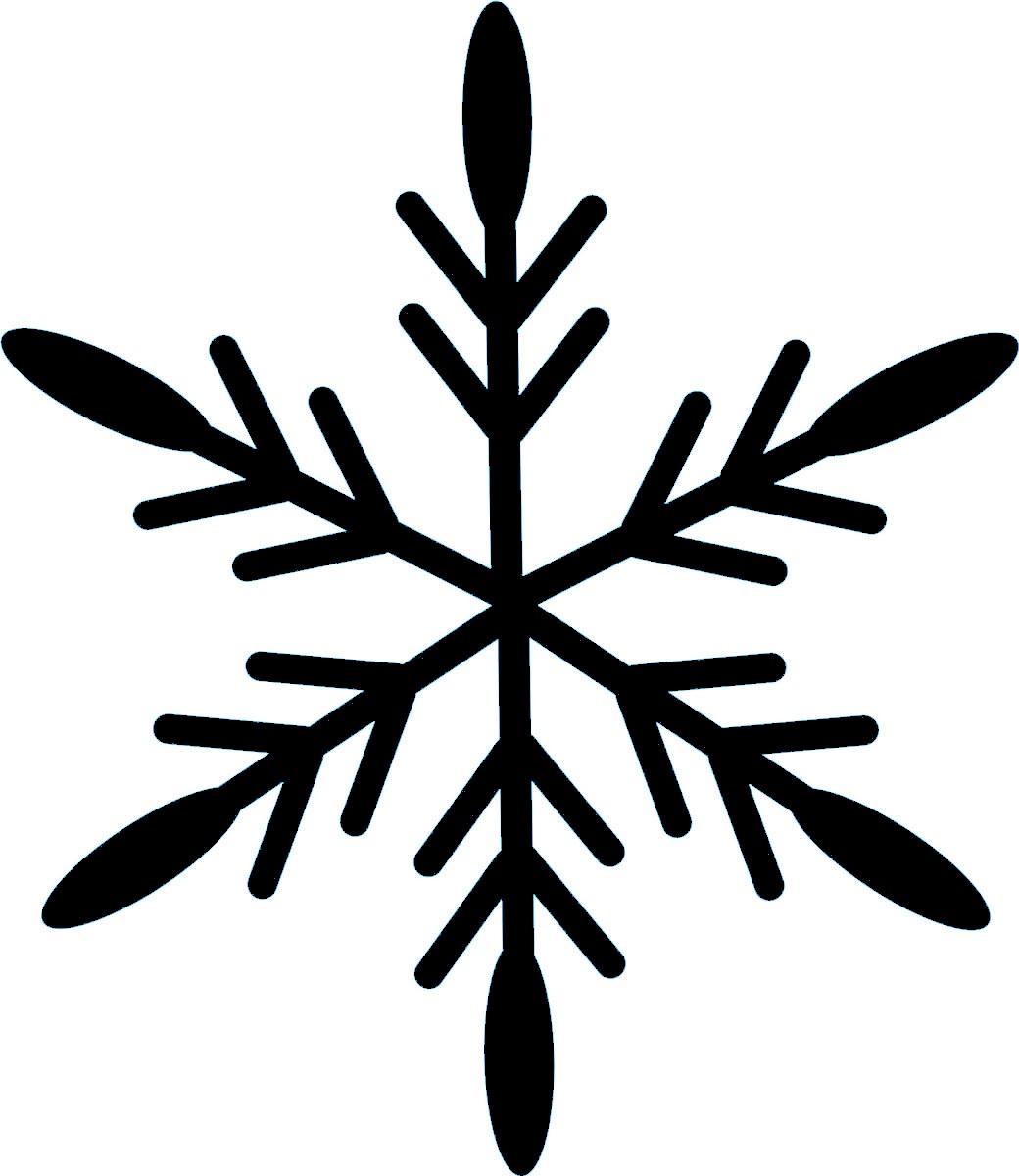 Фото - Наклейка ОранжевыйСлоник виниловая Снежинка6 для авто или интерьера, Винил авто