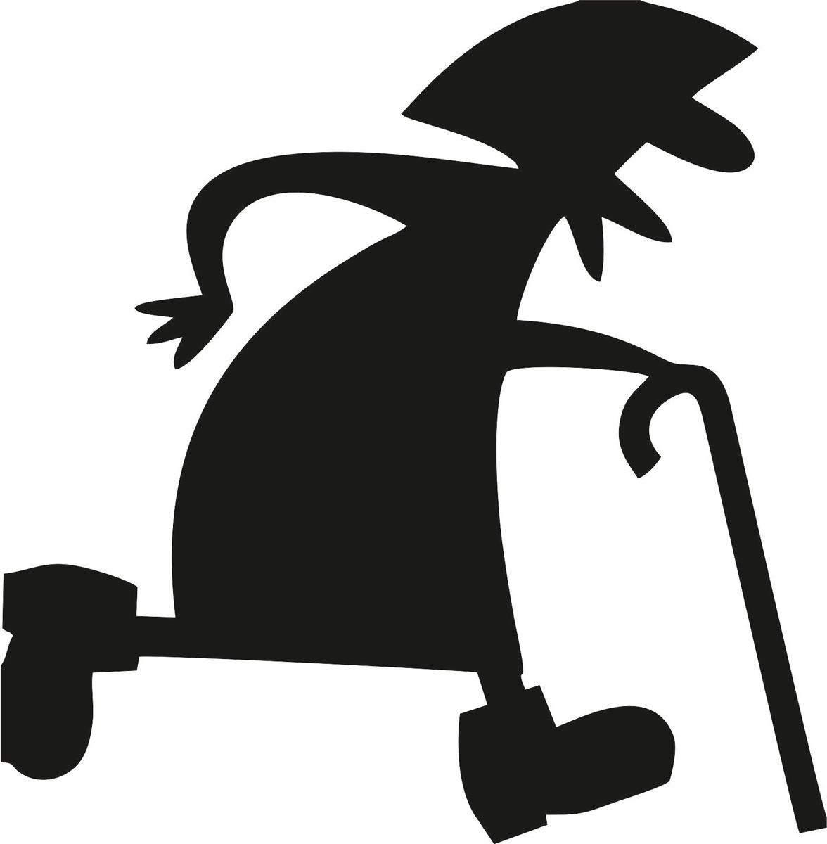 Фото - Наклейка ОранжевыйСлоник виниловая Бабка для авто или интерьера, Винил авто