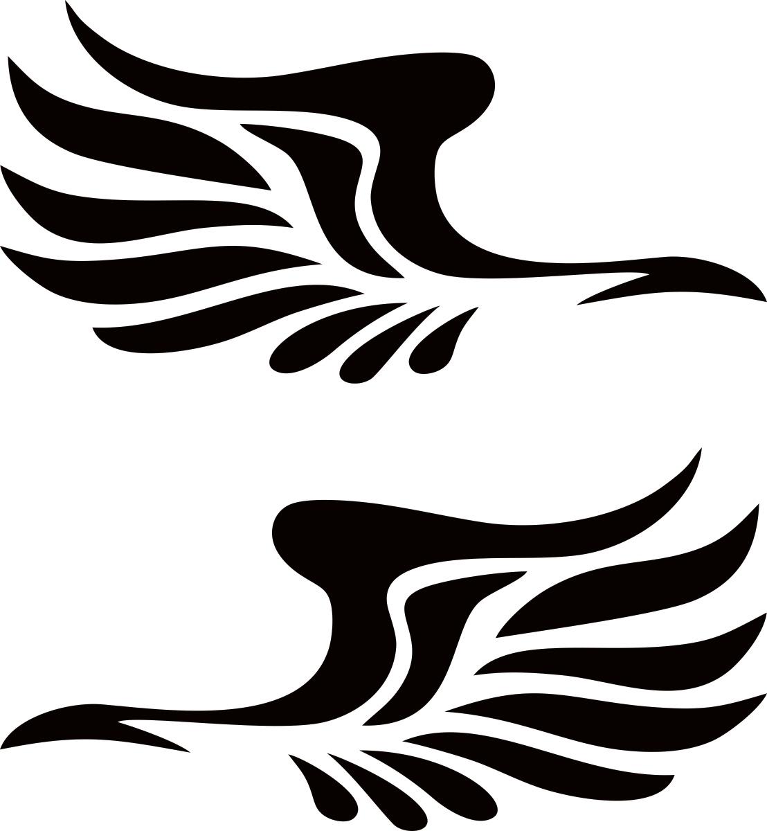 Фото - Наклейка ОранжевыйСлоник виниловая Крылья на зеркала для авто или интерьера, Винил авто