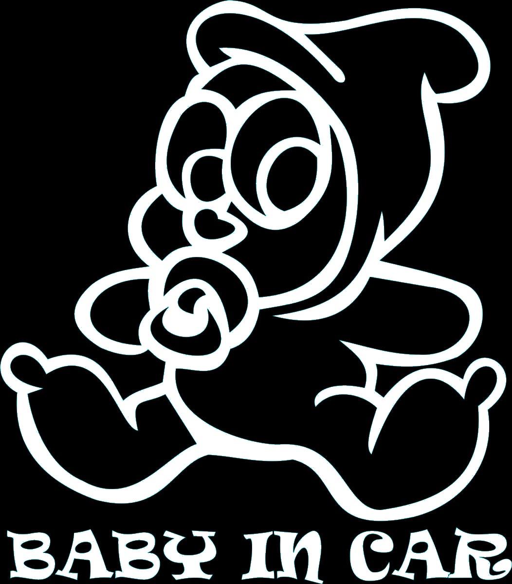 Фото - Наклейка ОранжевыйСлоник виниловая эби ин кар пупс для авто или интерьера, Винил авто