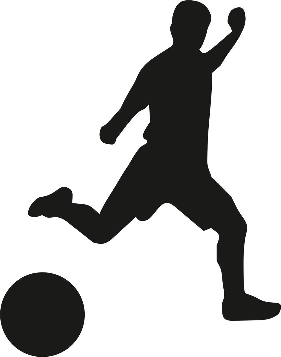Фото - Наклейка ОранжевыйСлоник виниловая Футбол1 для авто или интерьера, Винил авто