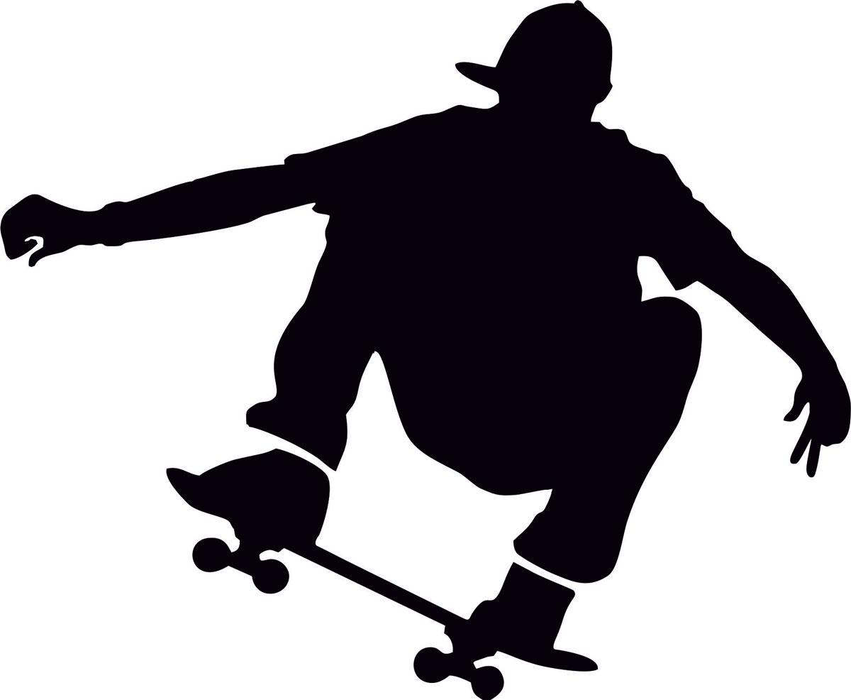 Фото - Наклейка ОранжевыйСлоник виниловая Скейт2 для авто или интерьера, Винил авто