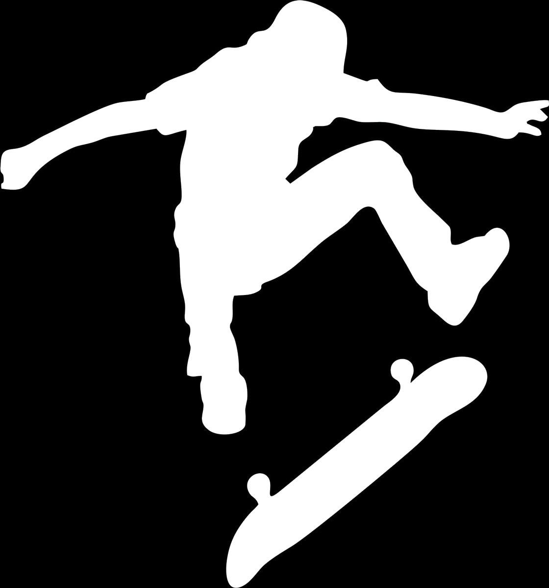 Фото - Наклейка ОранжевыйСлоник виниловая Скейт для авто или интерьера, Винил авто