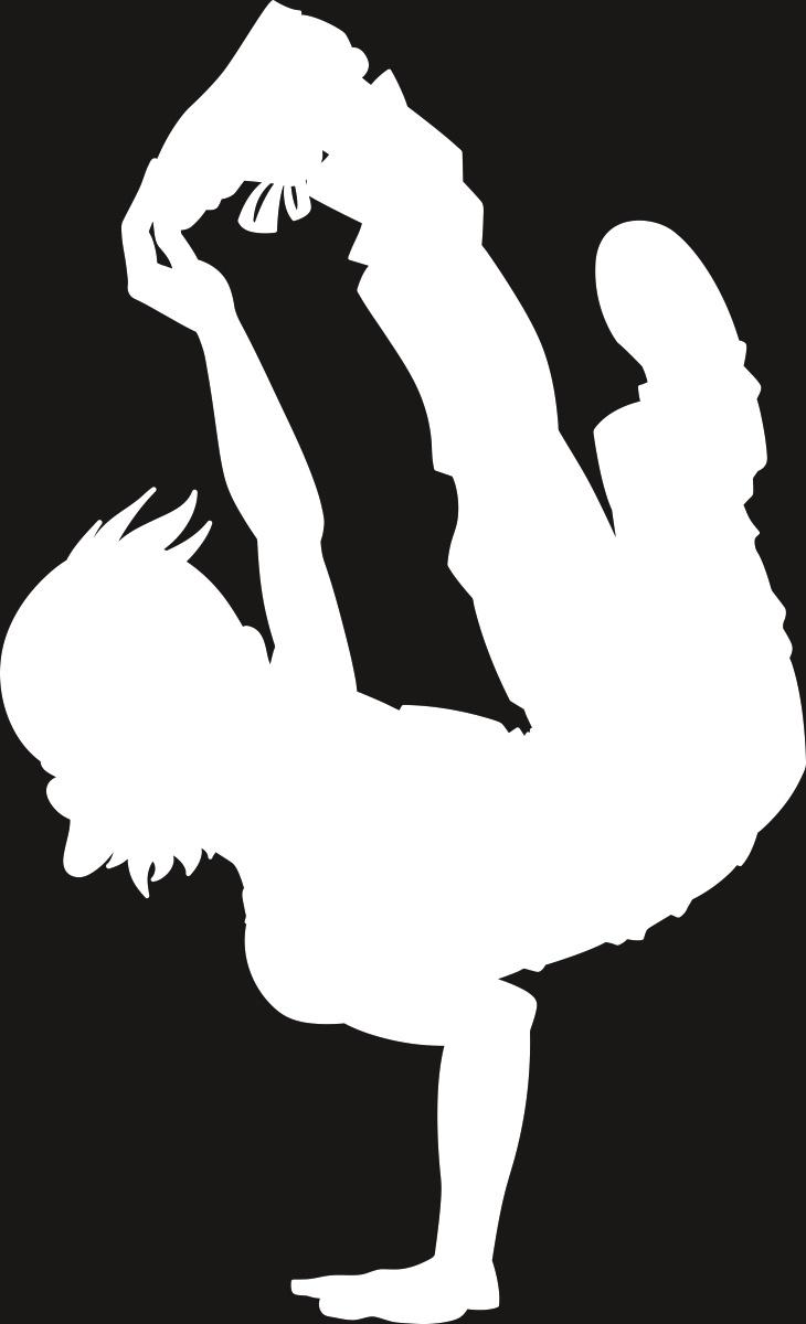 Фото - Наклейка ОранжевыйСлоник виниловая Танцы1 для авто или интерьера, Винил авто