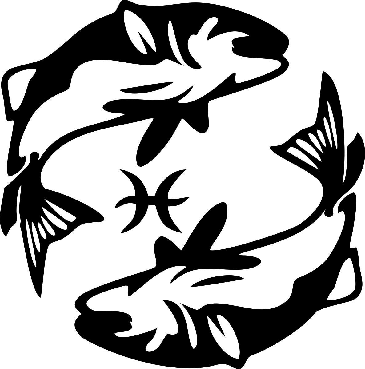 Фото - Наклейка ОранжевыйСлоник виниловая Рыбы для авто или интерьера, Винил авто
