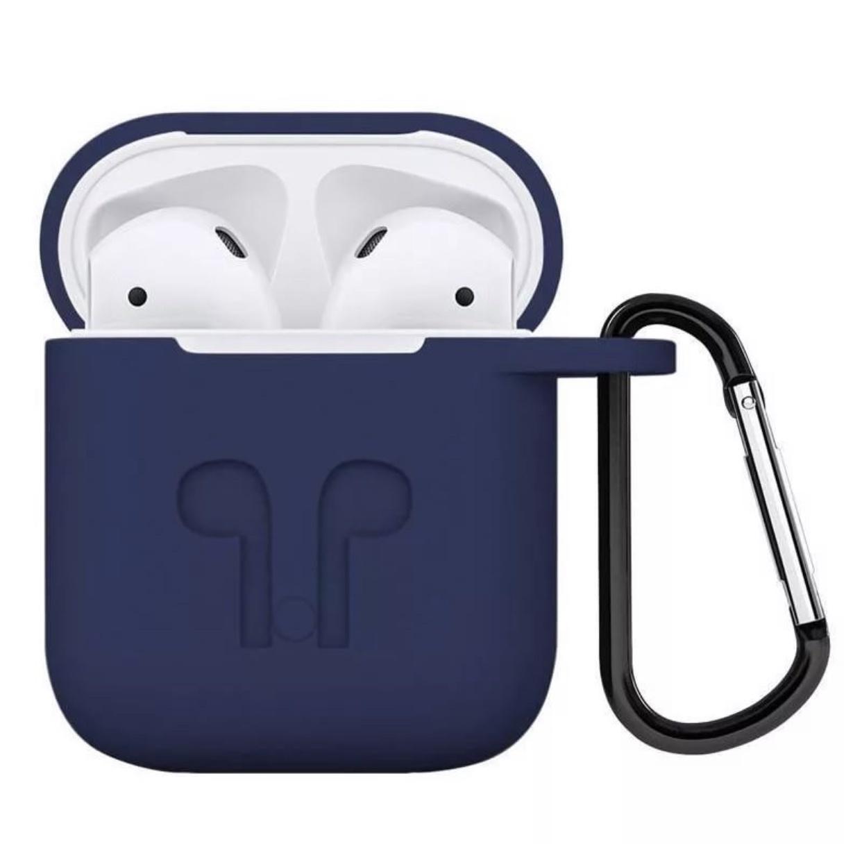 Чехол для наушников Markclub@Hoco Apple AirPods, темно-синий