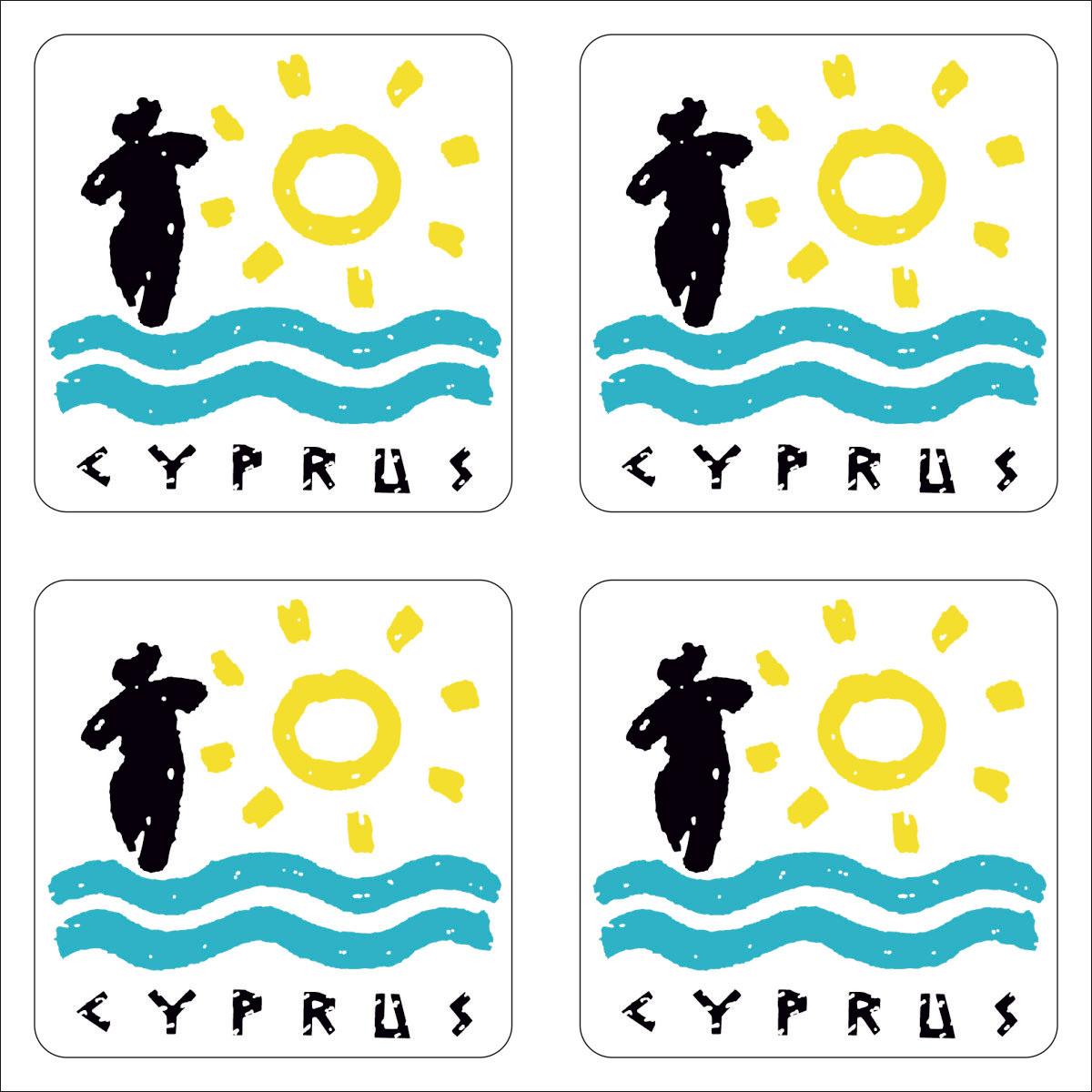 Наклейка Оранжевый Слоник виниловая путешественника cyprus Винил