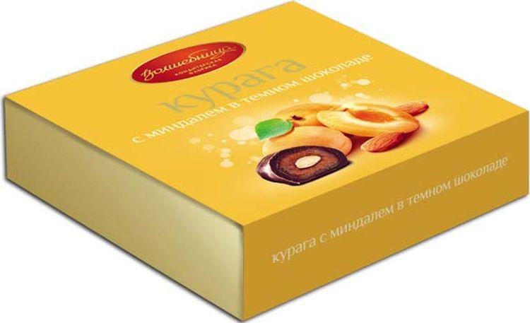 Конфеты Волшебница Курага с миндалем в шоколаде, 110 г конфеты волшебница имбирь в шоколаде 120 г