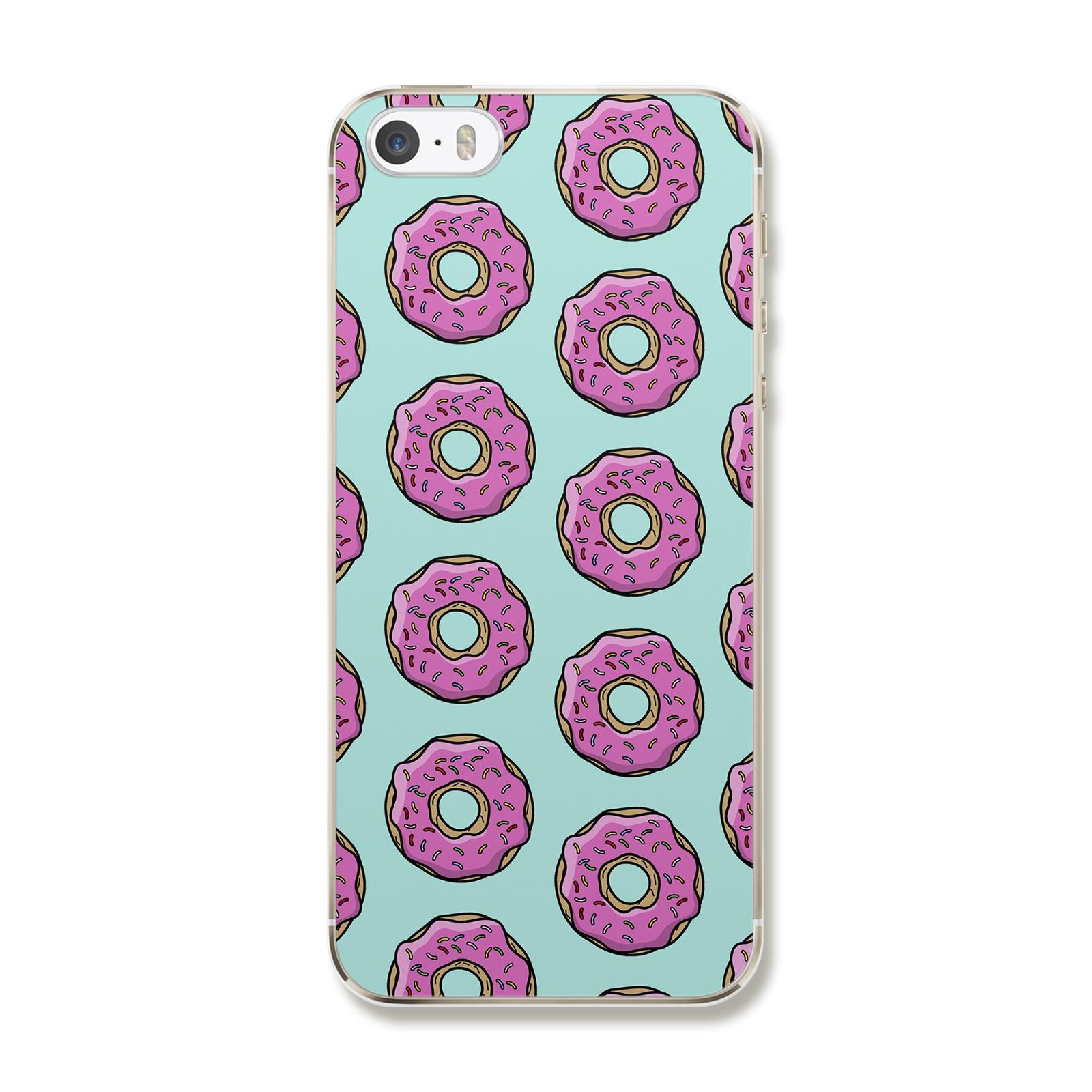 """Чехол для iPhone 5/5S/SE """"Бирюзовые пончики"""""""