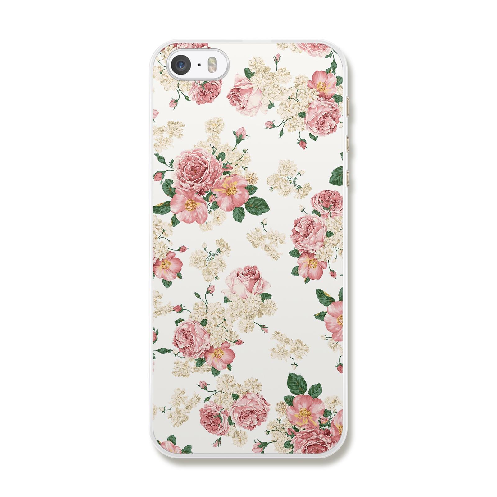 """Чехол для iPhone 5/5S/SE """"Цветы в сепии"""""""