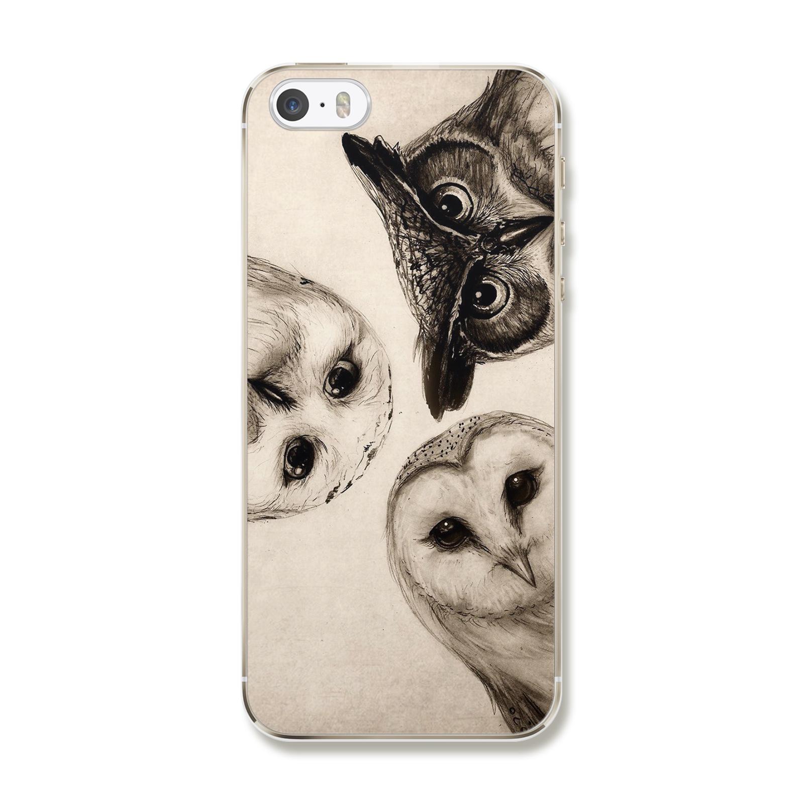 """Чехол для iPhone 5/5S/SE """"Три совы"""""""