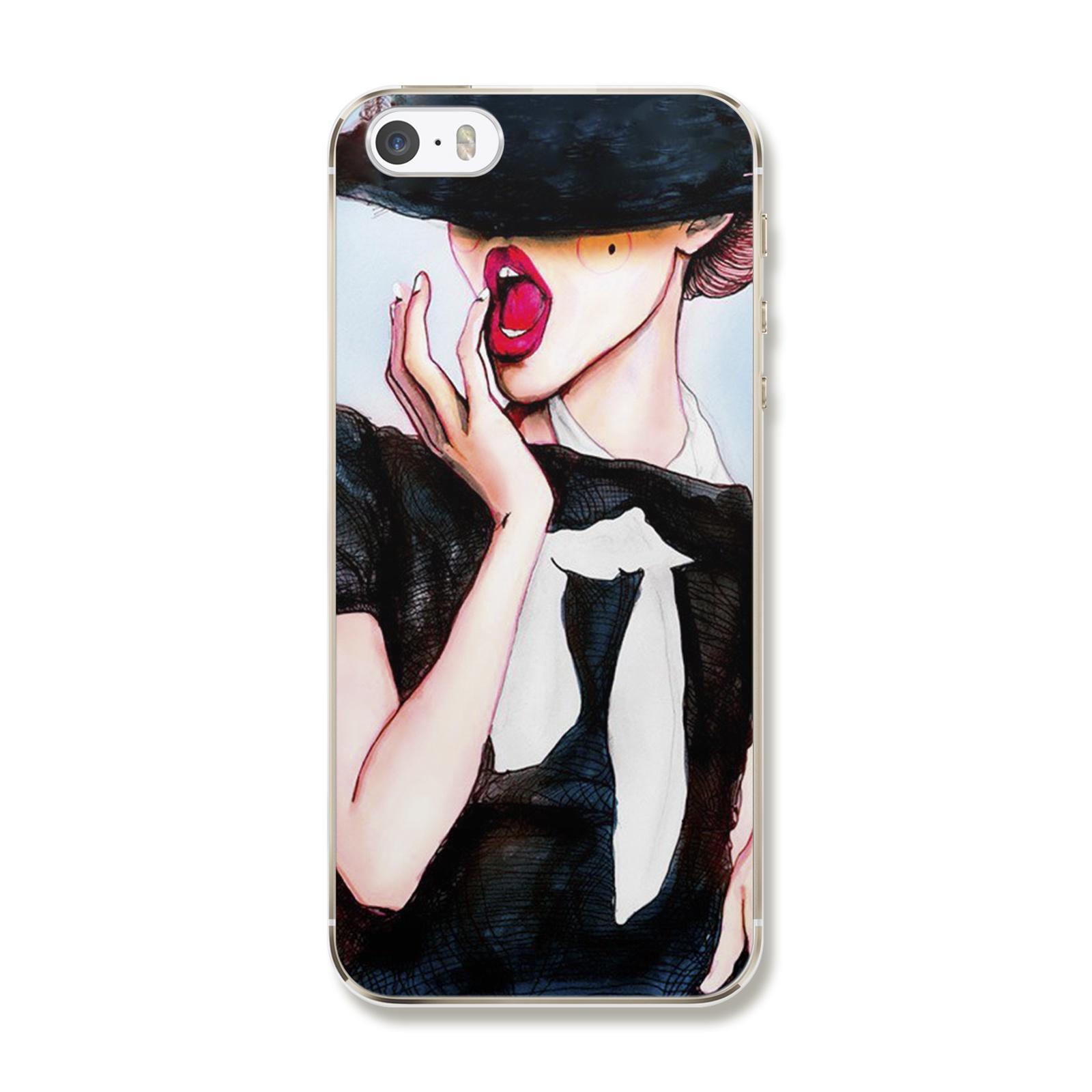 "Чехол Для iPhone 5/5S/SE ""Девушка"""