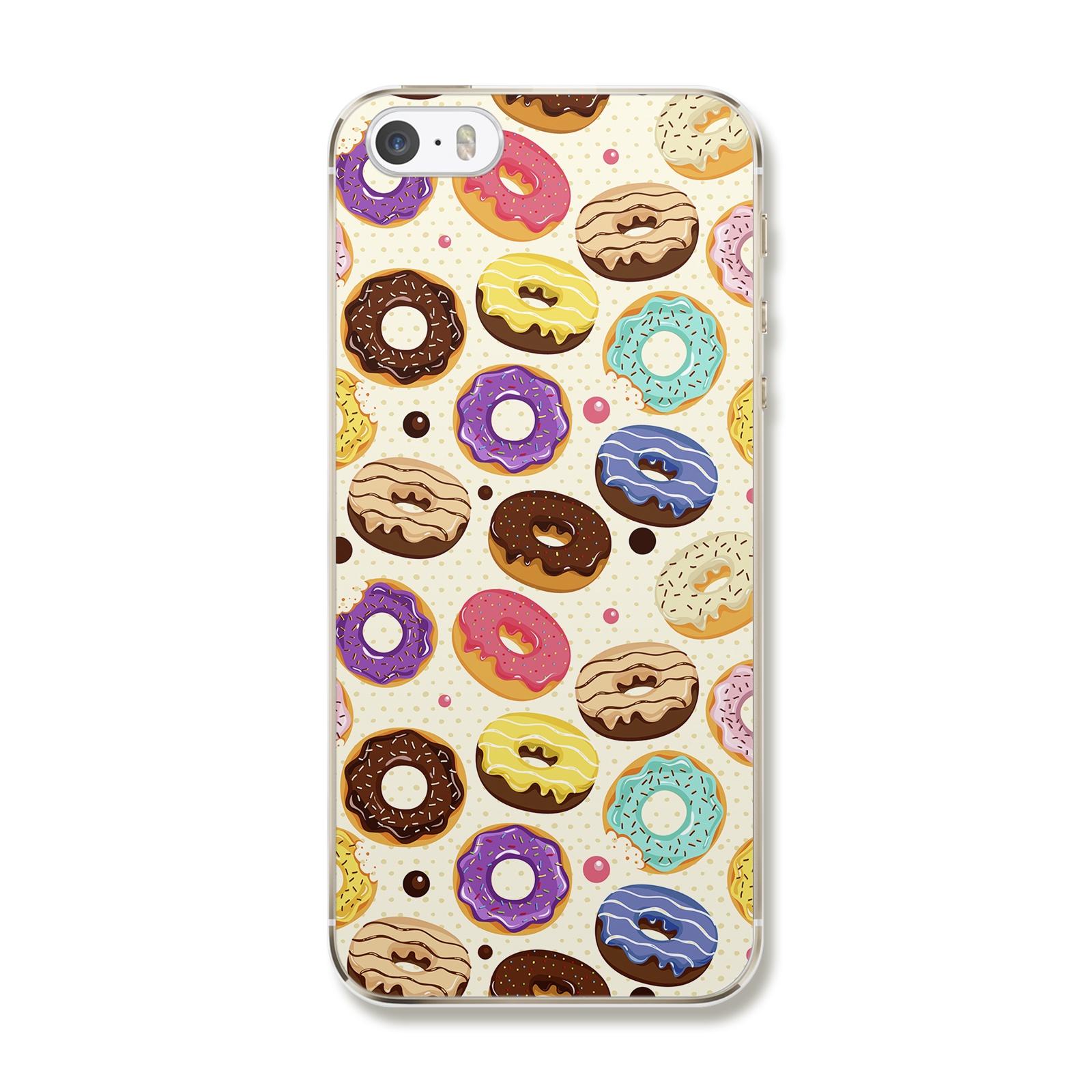 """Чехол для iPhone 5/5S/SE """"Цветные пончики"""""""