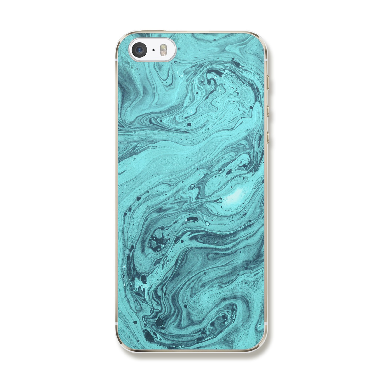 "Чехол для iPhone 5/5S/SE ""Бирюзовый мрамор"""