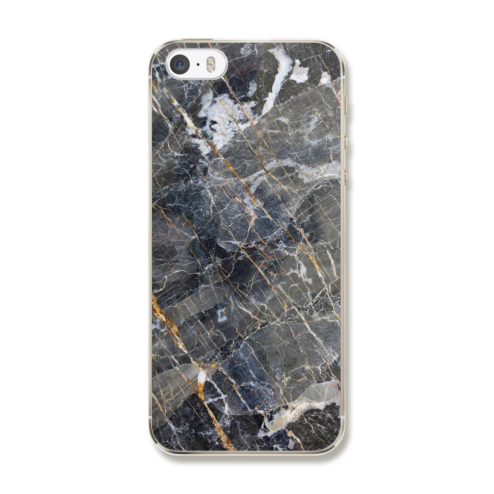"""Чехол для iPhone 5/5S/SE """"Серый мрамор"""""""