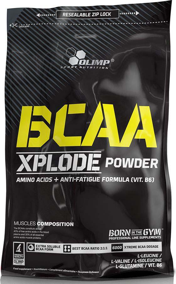 Комплекс аминокислотный Olimp Sport Nutrition BCAA Xplode Powder Клубника, 1 кг креатин olimp sport nutrition xplode powder ананас 500 г