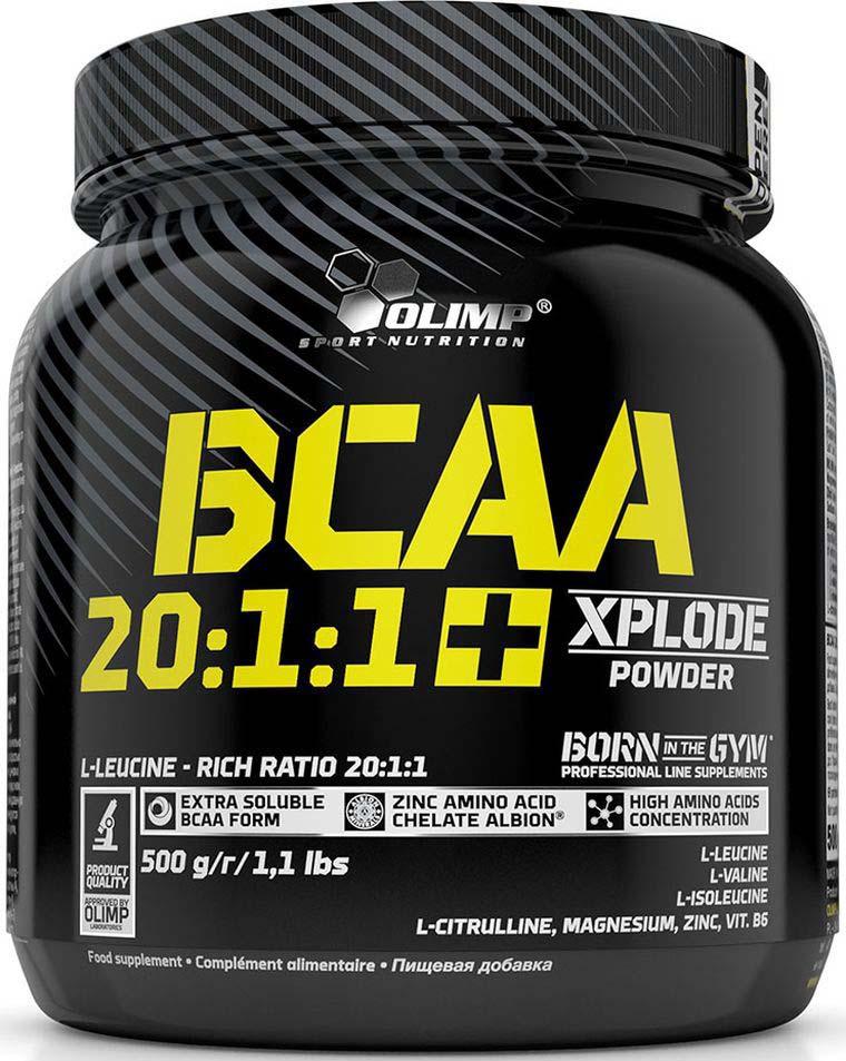 Комплекс аминокислотный Olimp Sport Nutrition BCAA 20:1:1+ Xplode Powder Грейпфрут, 500 г креатин olimp sport nutrition xplode powder ананас 500 г