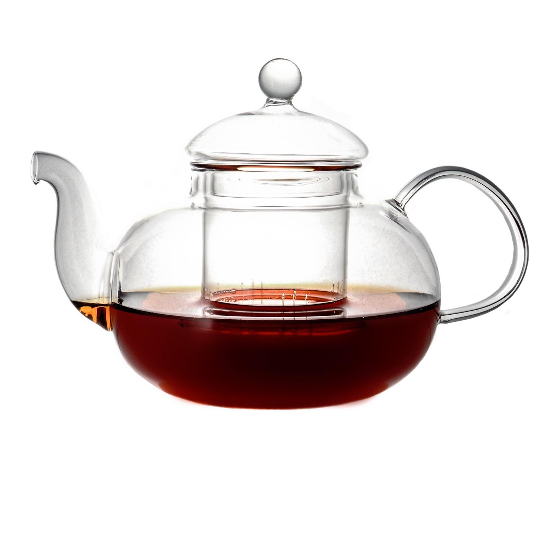 Чайник заварочный CnGlass Стеклянный Смородина 800 мл, с колбой, Стекло стеклянный заварочный чайник смородина без заварочной колбы 1500 мл уцененный товар