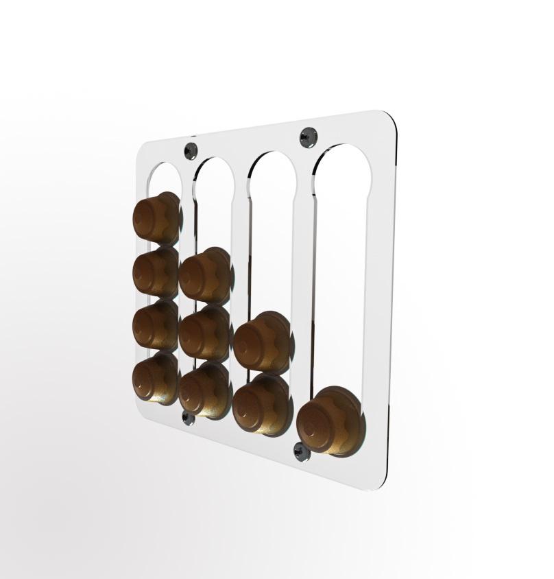Держатель магнитный для 16 кофейных капсул, бесцветный IRROX