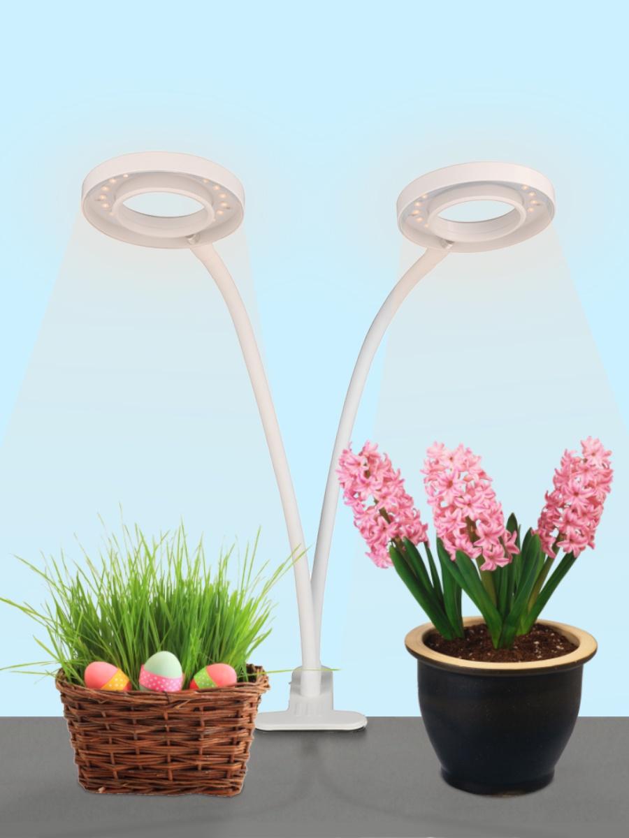 Светильник-прищепка Uniel ULT-P35-16W/SPLE IP40 WHITE, UL-00004116 подсветка для растений uniel ult p30 15w spfs ip40 white