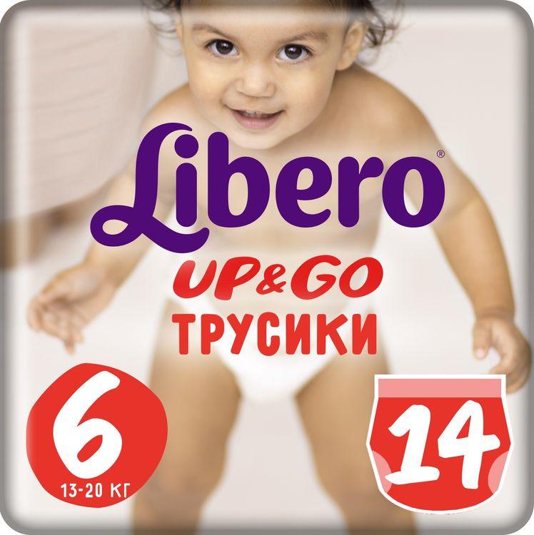 Трусики Libero Up&Go Size 6 (13-20 кг), 14 шт