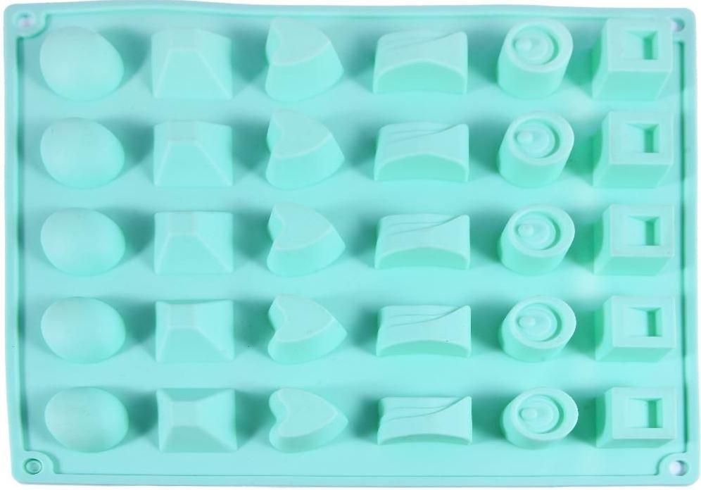 Форма для леденцов и конфет Fidget Go Ассорти, 30 ячеек, для приготовления конфет, льда и шоколада, голубой тендерайзер fidget go цвет белый