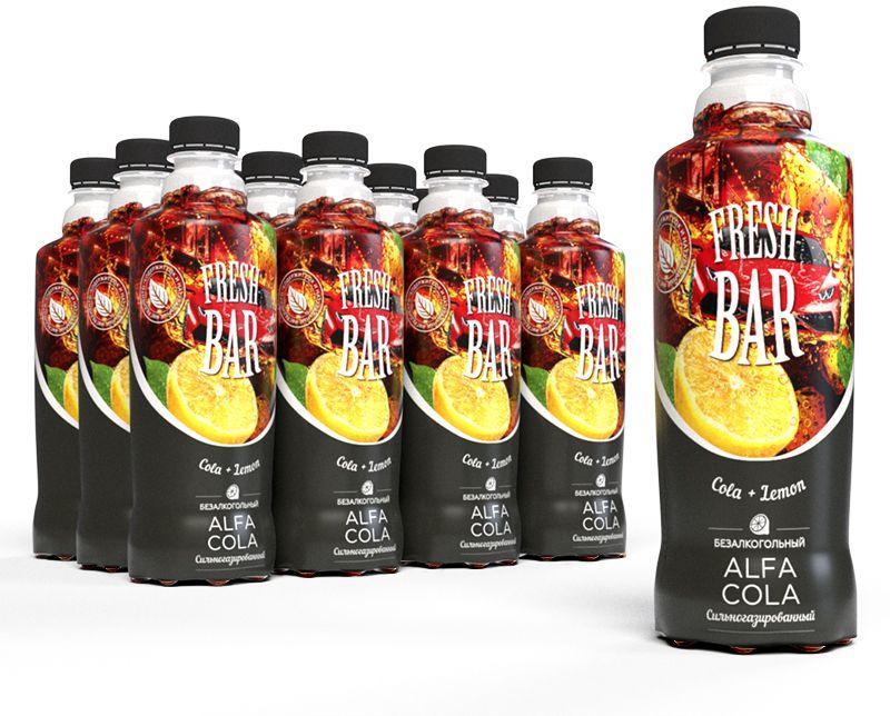 """Газированный напиток Fresh Bar """"Альфа Кола"""", 12 шт по 480 мл"""