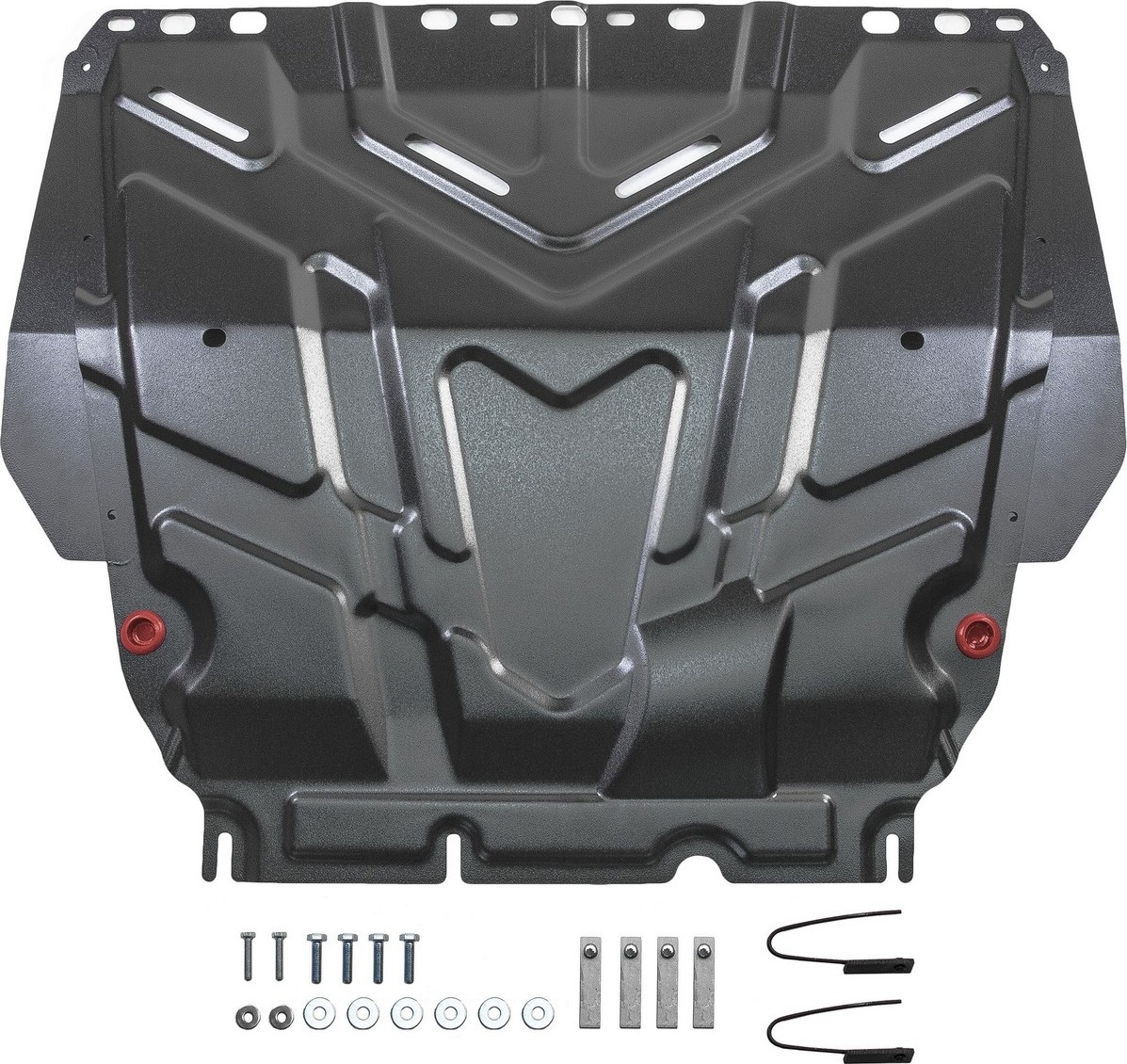 Защита картера и КПП Автоброня для Ford C-Max 2003-2010/Focus 2005-2011 2011-2015 2015-н.в./Grand C-Max 2010-2015/Kuga 2008-2013, сталь 2 мм, с крепежом. 111.01850.1 surkov v texts 1997 2010
