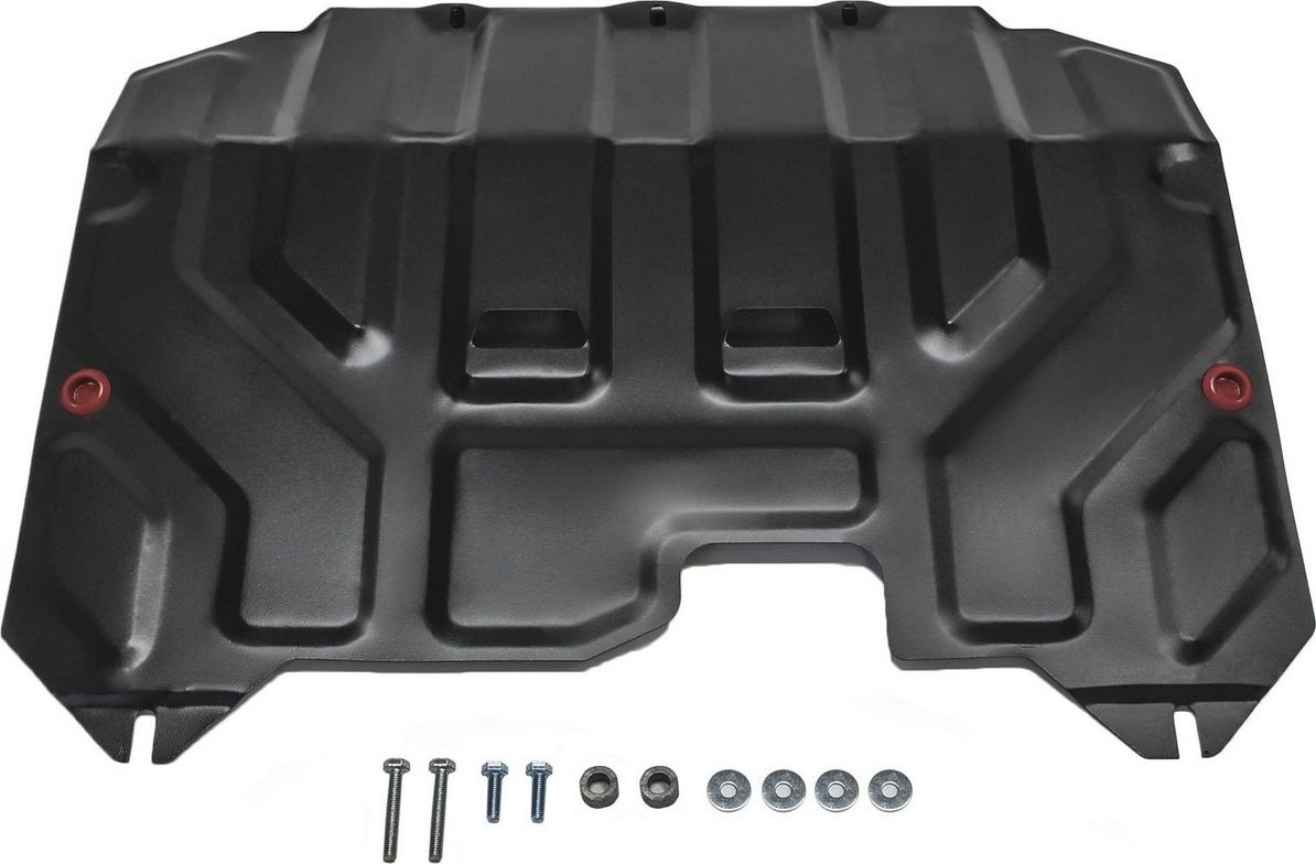 Защита картера и КПП Автоброня для Hyundai ix35 2010-2015/Kia Sportage 2010-2016, сталь 2 мм, с крепежом. 111.02352.1 защита hyundai sonata yf 2010 kia optima 2010 all картера и кпп штамповка