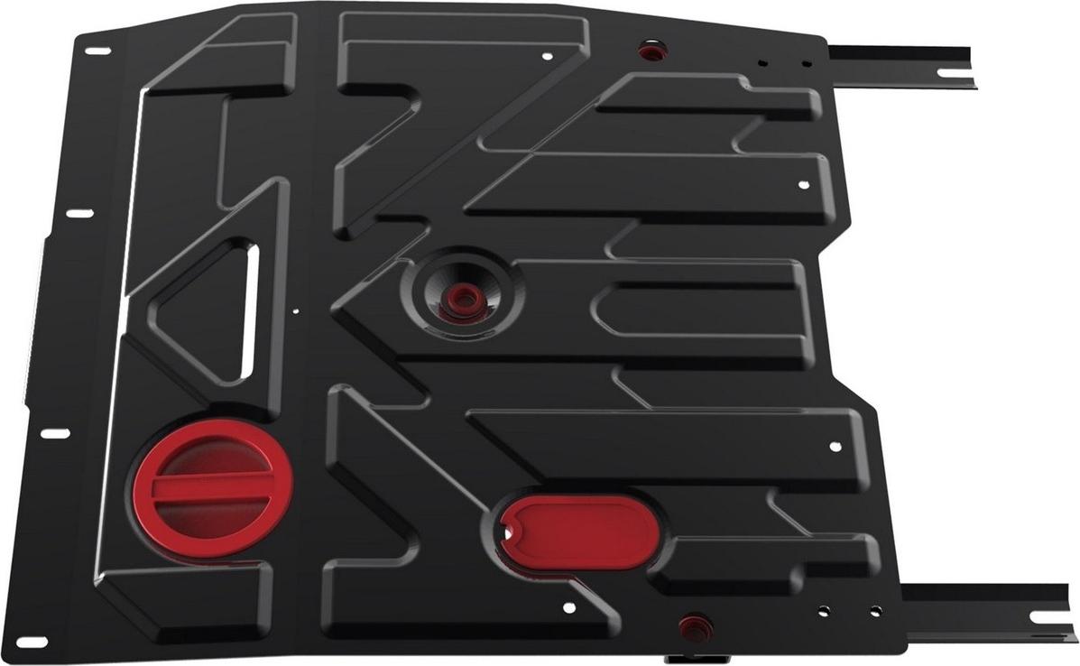 Защита картера и КПП Автоброня для Fiat Sedici 2005-2012/Suzuki SX4 2007-2013, сталь 2 мм, с крепежом. 111.05505.3 защита картера автоброня для suzuki grand vitara 2005 2012 2012 2015 сталь 2 мм с крепежом 111 05501 5