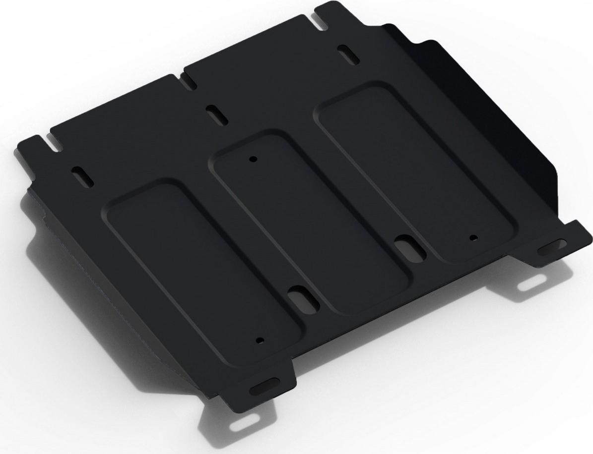 Защита КПП Автоброня (часть 2) для Hyundai H1 2015-2018 2018-н.в., сталь 2 мм, с крепежом. 111.02336.1111.02336.1Защита КПП АвтоБроня (часть 2) для Hyundai H1 (V - все) 2015-н.в., сталь 2 мм, крепеж в комплекте, 111.02336.1 Стальные защиты Автоброня надежно защищают ваш автомобиль от повреждений при наезде на бордюры, выступающие канализационные люки, кромки поврежденного асфальта или при ремонте дорог, не говоря уже о загородных дорогах. - Имеют оптимальное соотношение цена-качество. - Спроектированы с учетом особенностей автомобиля, что делает установку удобной. - Защита устанавливается в штатные места кузова автомобиля. - Является надежной защитой для важных элементов на протяжении долгих лет. - Глубокий штамп дополнительно усиливает конструкцию защиты. - Подштамповка в местах крепления защищает крепеж от срезания. - Технологические отверстия там, где они необходимы для смены масла и слива воды, оборудованные заглушками, закрепленными на защите. Уважаемые клиенты! Обращаем ваше внимание, на тот факт, что защита имеет форму, соответствующую модели данного автомобиля. Наличие глубокого штампа и лючков для смены фильтров/масла предусмотрено не на всех защитах. Фото служит для визуального восприятия товара.